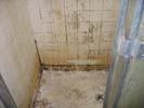 Smoke and fire damage in bathroom floors
