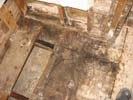 Smoke and fire damage on floors