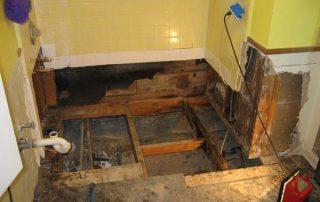 bad waterproofing effects on floor